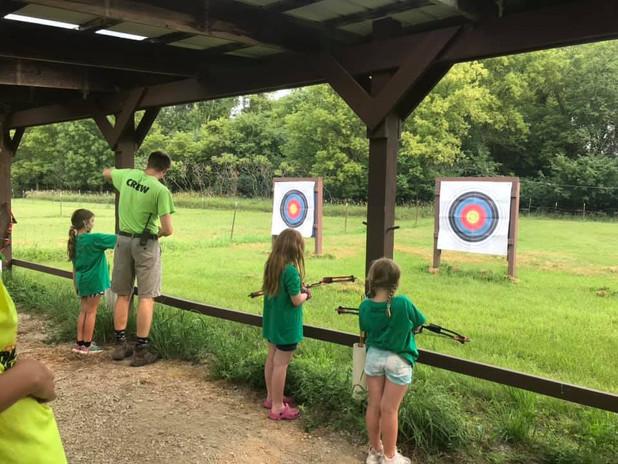 Unit 3 learns archery
