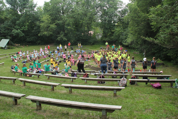 All camp sing-a-long