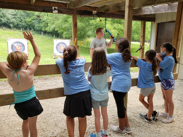 Unit 4 gets ready for archery