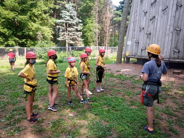 Unit 6 gets ready for rock climbing