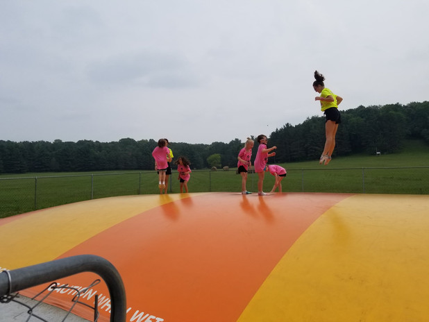 Unit 2 has fun on the bounce pillow
