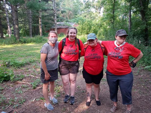 Our lovely adult volunteers: Kim, Cheesy, Mango, Kaki