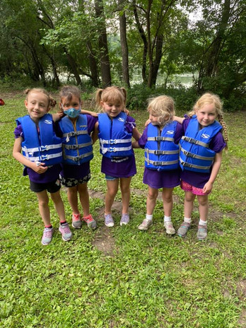 Unit 1 is ready for their boat ride
