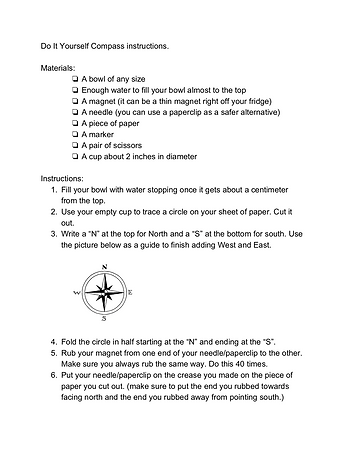 Do It Yourself Compass instructions (dra