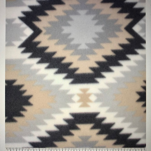 Beige & Grey Aztec Fleece