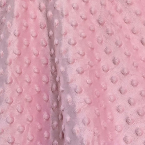 Soft pink minky bubble fleece