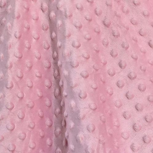 Soft pink minky bubble fleece