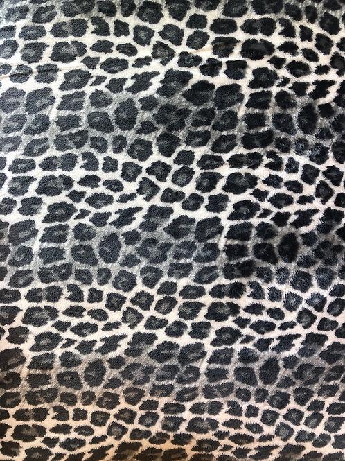 Black & White Leopard Minky Fleece