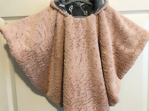 Soft Pink Minky with Gray & Arrows
