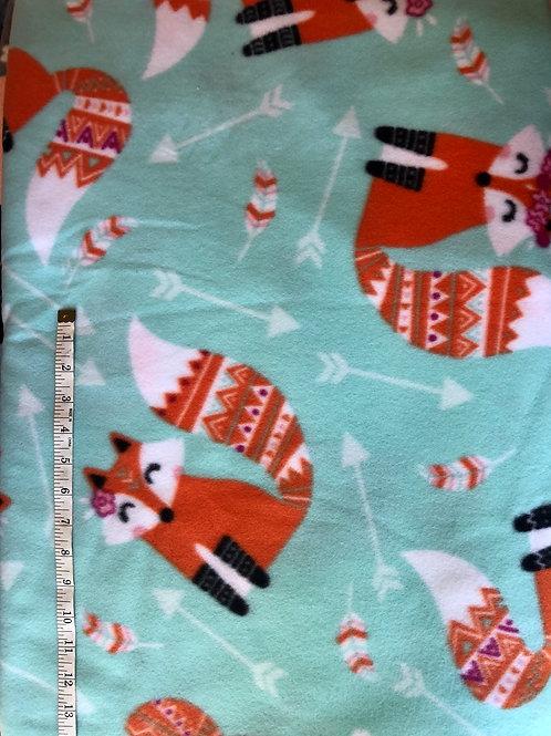 Fox and arrows Fleece