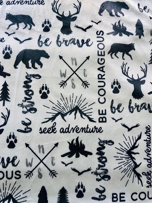 Be Brave Minky Fleece