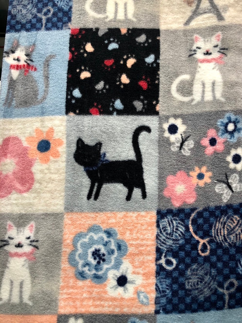 Kitty patchwork fleece