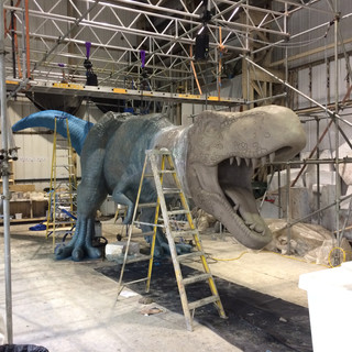 Jurassic World - fibre glass sculpture (cast & mould making)