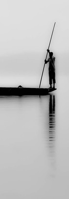 Scène de pêche en lagune