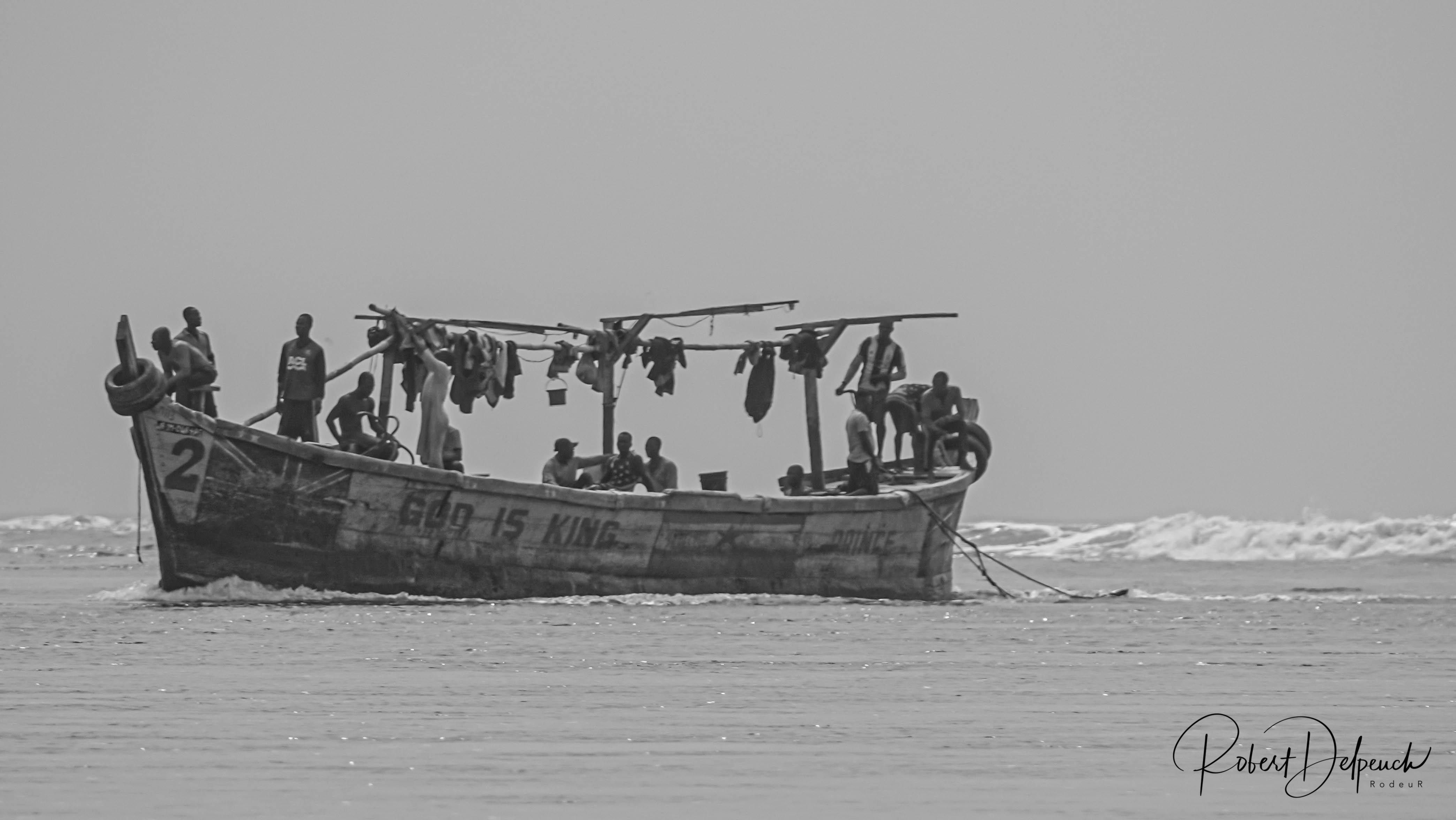 Retour de la pêche (passe d'Assinie)
