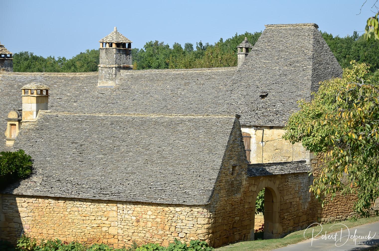 Archignc, toits de lauze