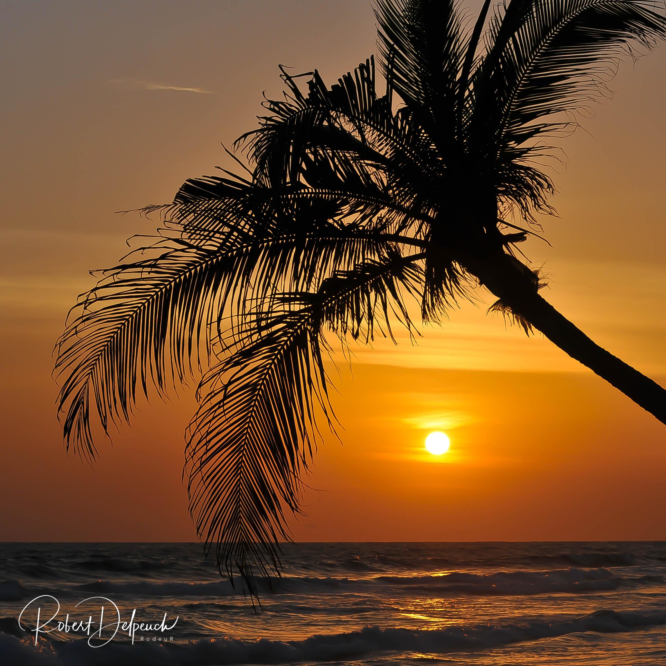 Coucher de soleil à Assinie km 7