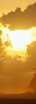 Quand le coucher de soleil dessine l'Afr