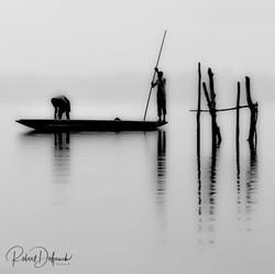 Pêche artisanale sur la lgune Aby