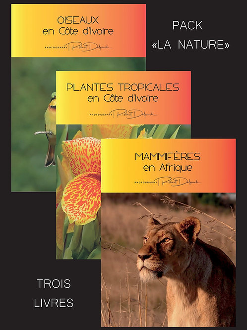 """Pack 3 livres """"LA NATURE"""""""