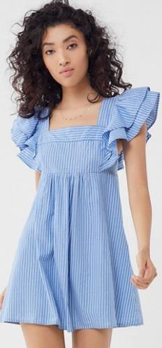 blue urban dress