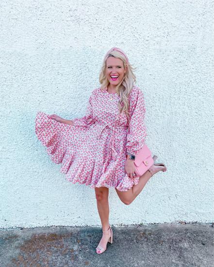 #PINKWEDNESDAY -  SPRING W/RED DRESS