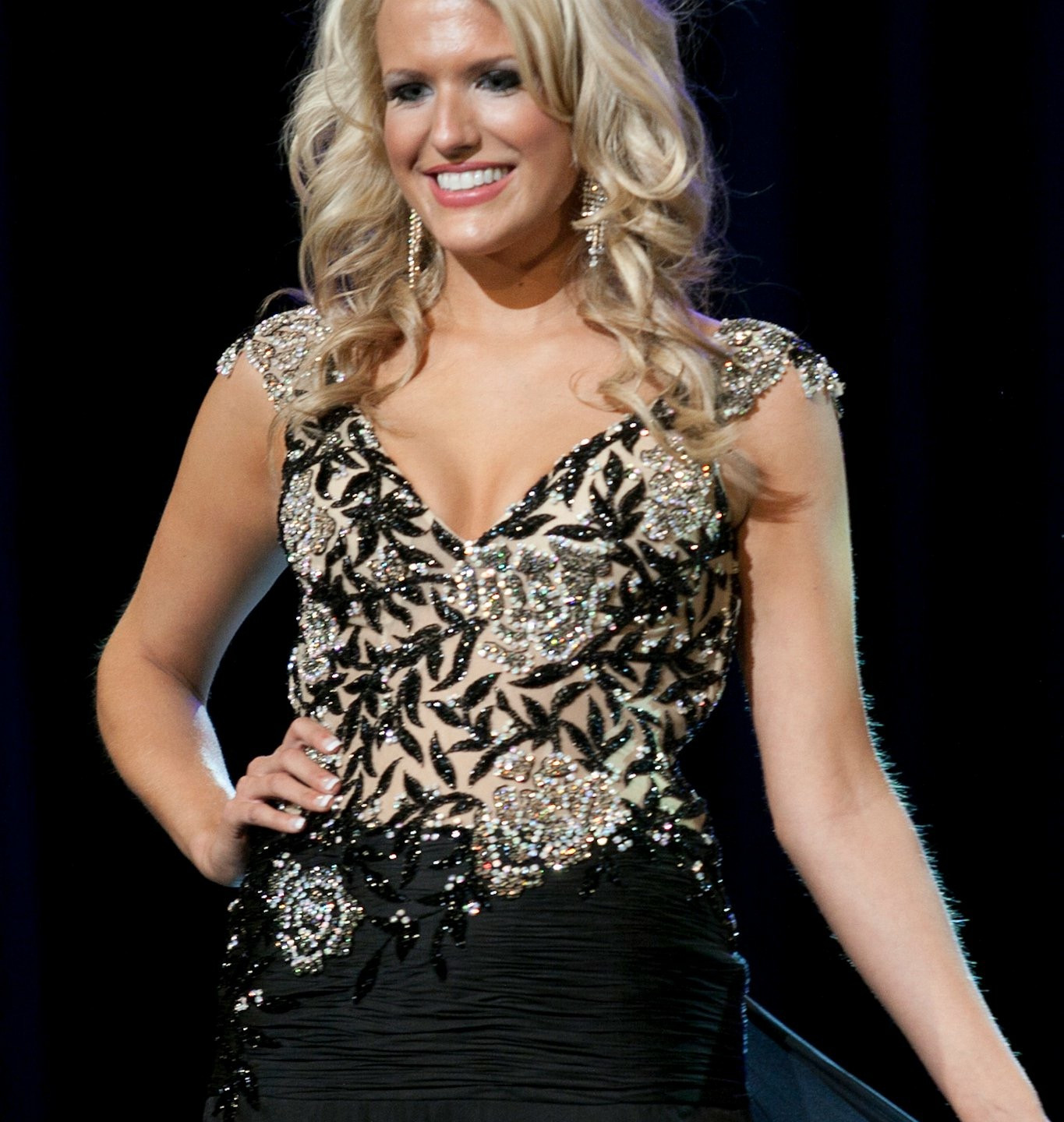 Miss Texas Up Close Evening Gown