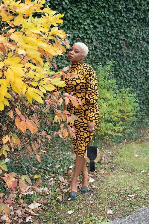 A leopard never changes its spots 2 piece dress set