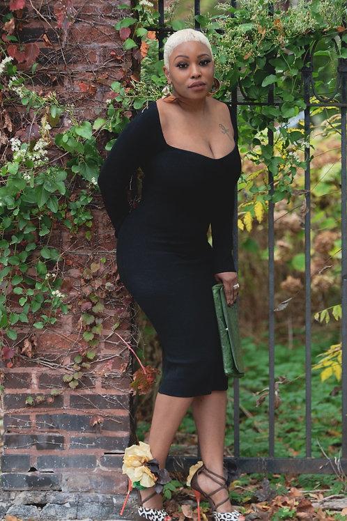 Black Monday knit dress