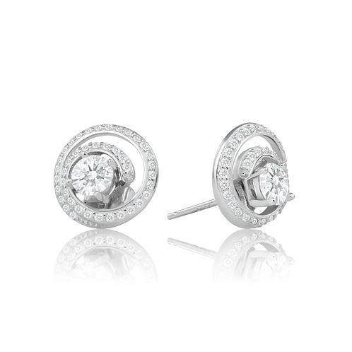 Earrings - Spiral Crystal