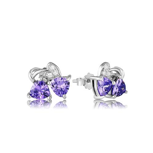 Earrings - Violet Love