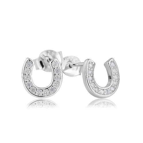 Earrings - Crystal Horseshoes