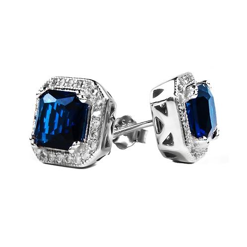 Earrings - Blue Stone