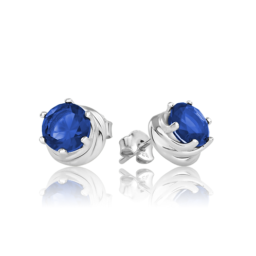 Earrings - Sapphire Swirls
