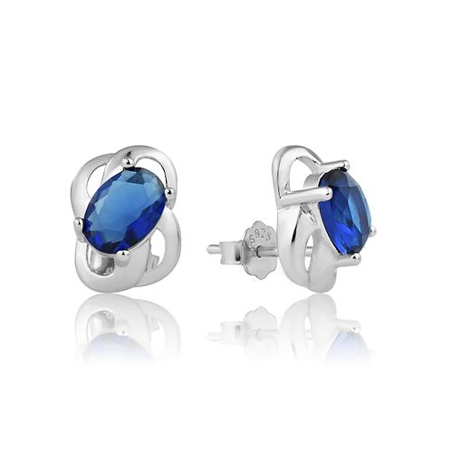 Earrings - Sapphire Swirls