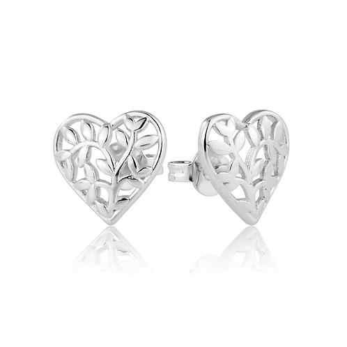 Earrings - Filigree Hearts