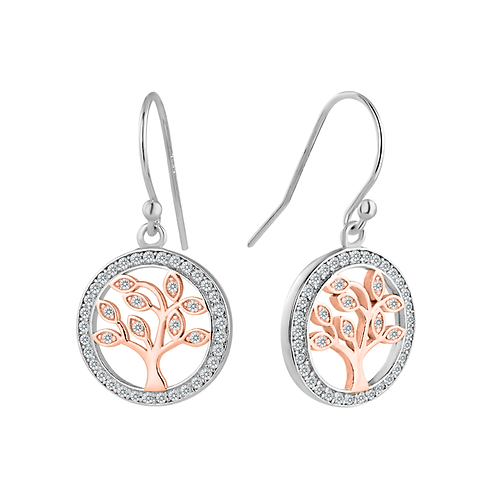 Earrings - Tree Of Life Rose