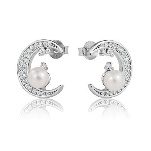 Earrings - Pearl Moons