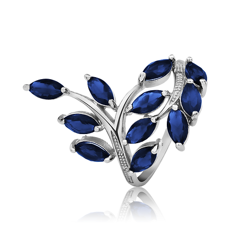 Ring - Sapphire Leaves