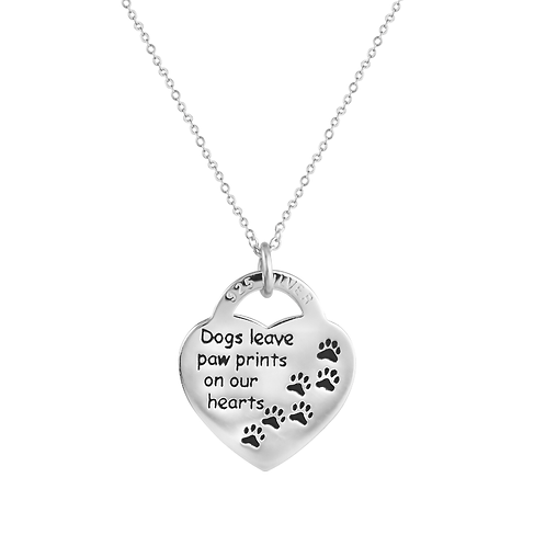 Pendant - 'Paw Prints On Our Hearts'