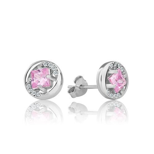 Earrings - Pink Glitz