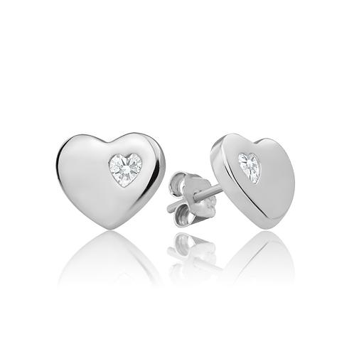 Earrings - Simple Hearts