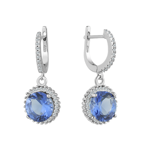 Earrings - Tanzanite Glitz Drops