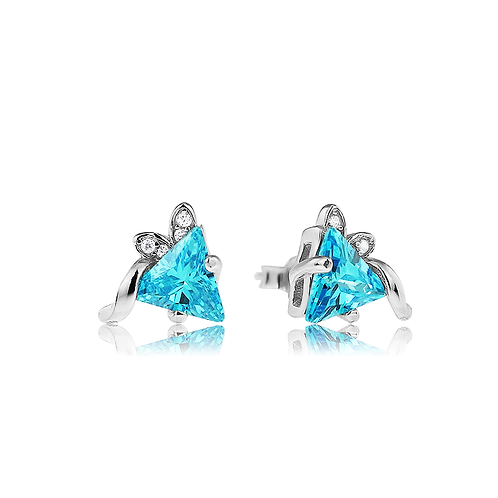 Earrings - Abstract Aqua