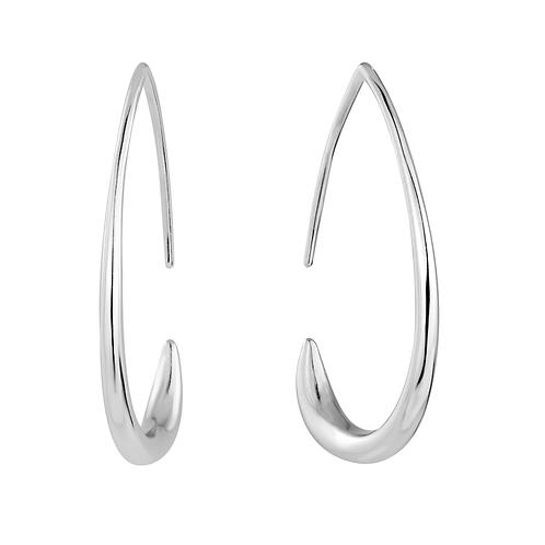 Earrings - Abstract Hoops