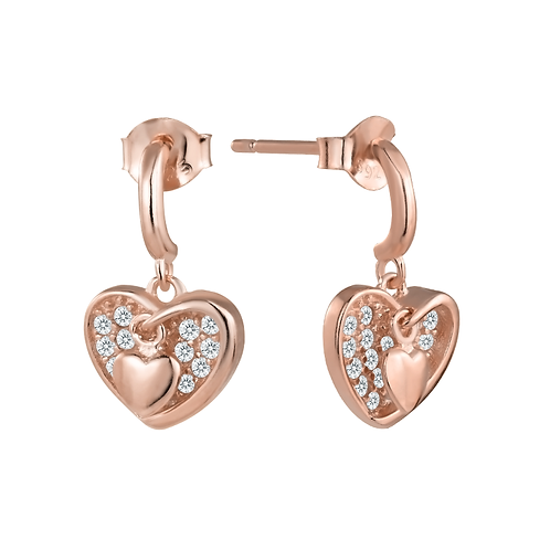 Earrings - Rose Hearts