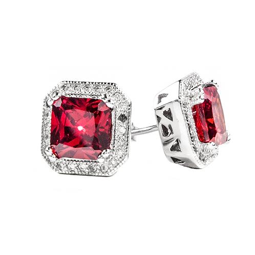 Earrings - Red Stone