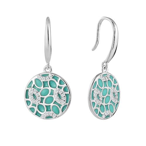 Earrings - Teal Mosaics