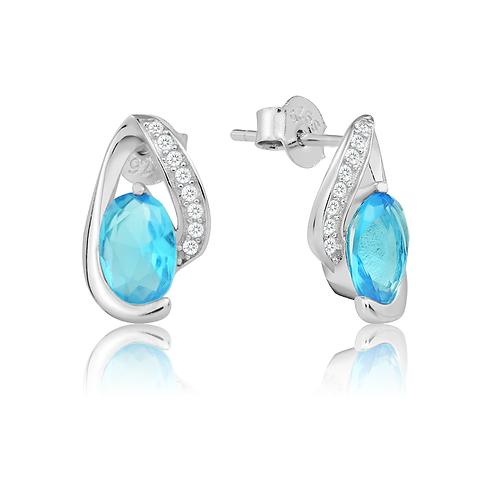 Earrings - Aqua Wave