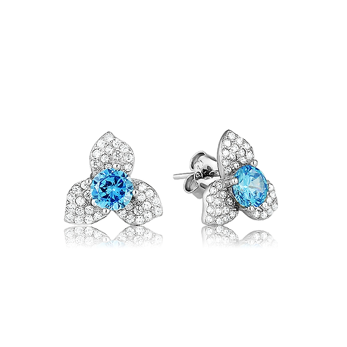 Earrings - Aqua Petals